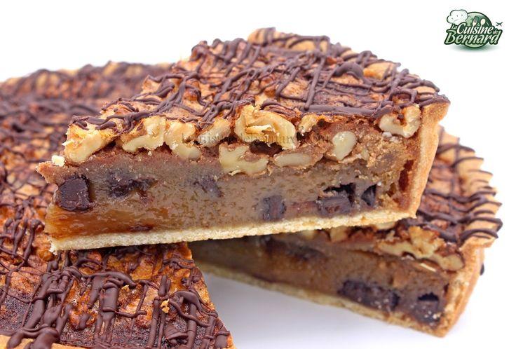 La Cuisine de Bernard : Tarte aux noix, miel, cannelle et chocolat