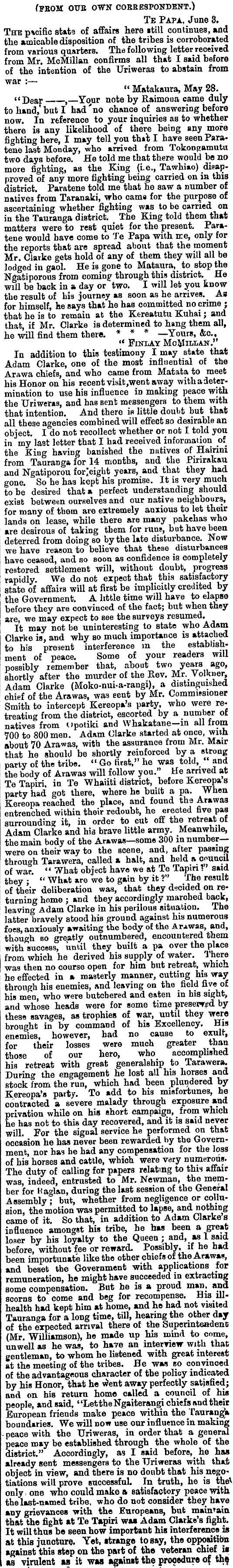1867 Finlay McMillan Tauranga Te Papa informant