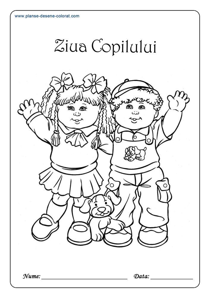 planse de colorat ziua copilului