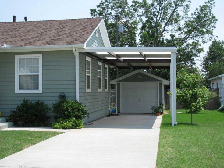 Best 25 attached carport ideas ideas on pinterest for Attached garage kits