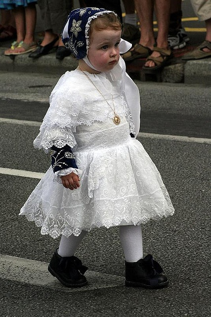 Little girl from Brittany, France