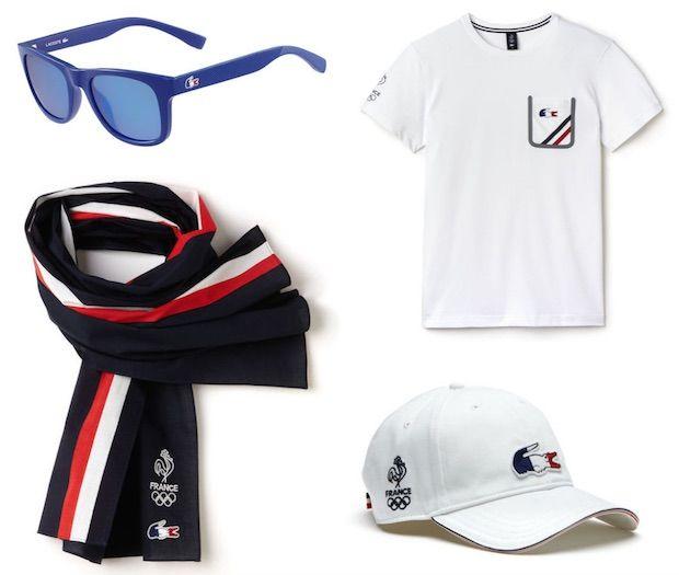 lunettes casquette tshirt echarpe lacoste jeux olympiques equipe de france 2016