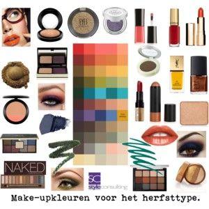 Make-upkleuren voor het herfsttype. Kleurenanalyse.