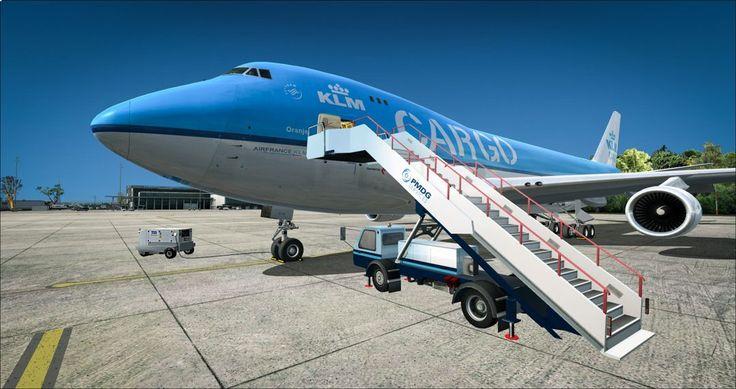 KLM Boeing 747F (Freighter) in EPKK - Kraków (Poland)
