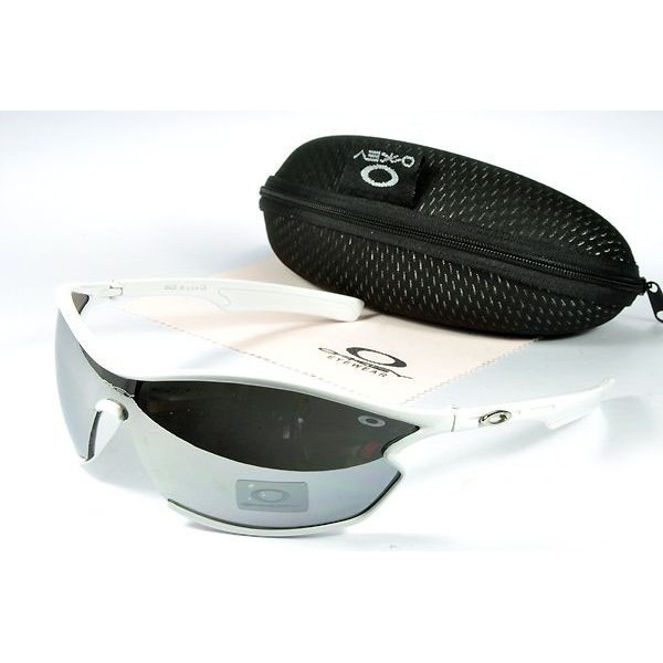 Oakley Women\u0027S Sunglasses Metal Grey Lens White Frames-20569