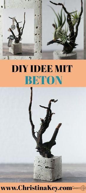 Beton Baum DIY Projekt