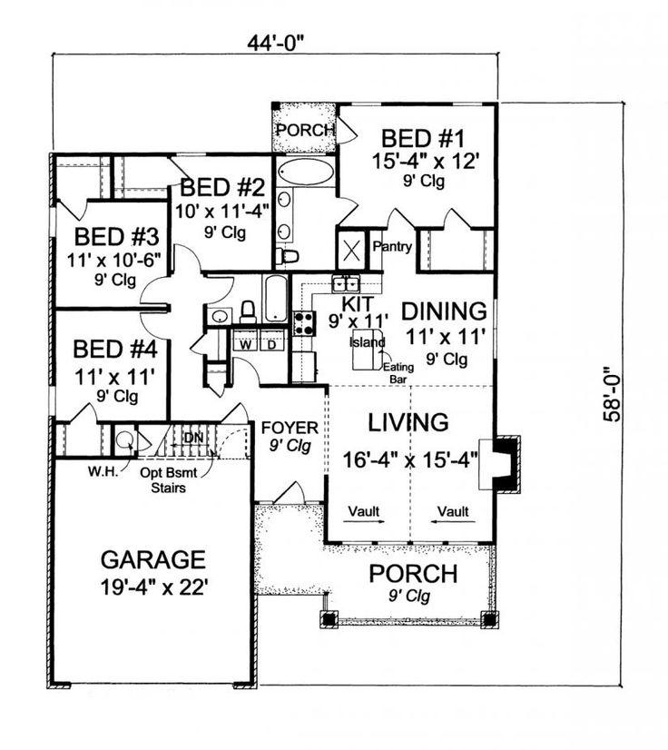 606 migliori immagini house plans to show mom su pinterest for Rimodellare i piani per la casa in stile ranch
