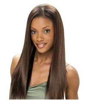 straight hair1 Celebrity Straight Weave Hairstyles