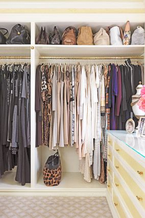 color coded closet space.