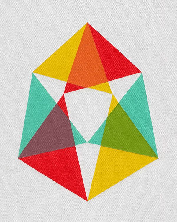 Primary colors + negative space. Using this inspiration for a logo, but of a symbol that represents learning/school/growing/chidren.