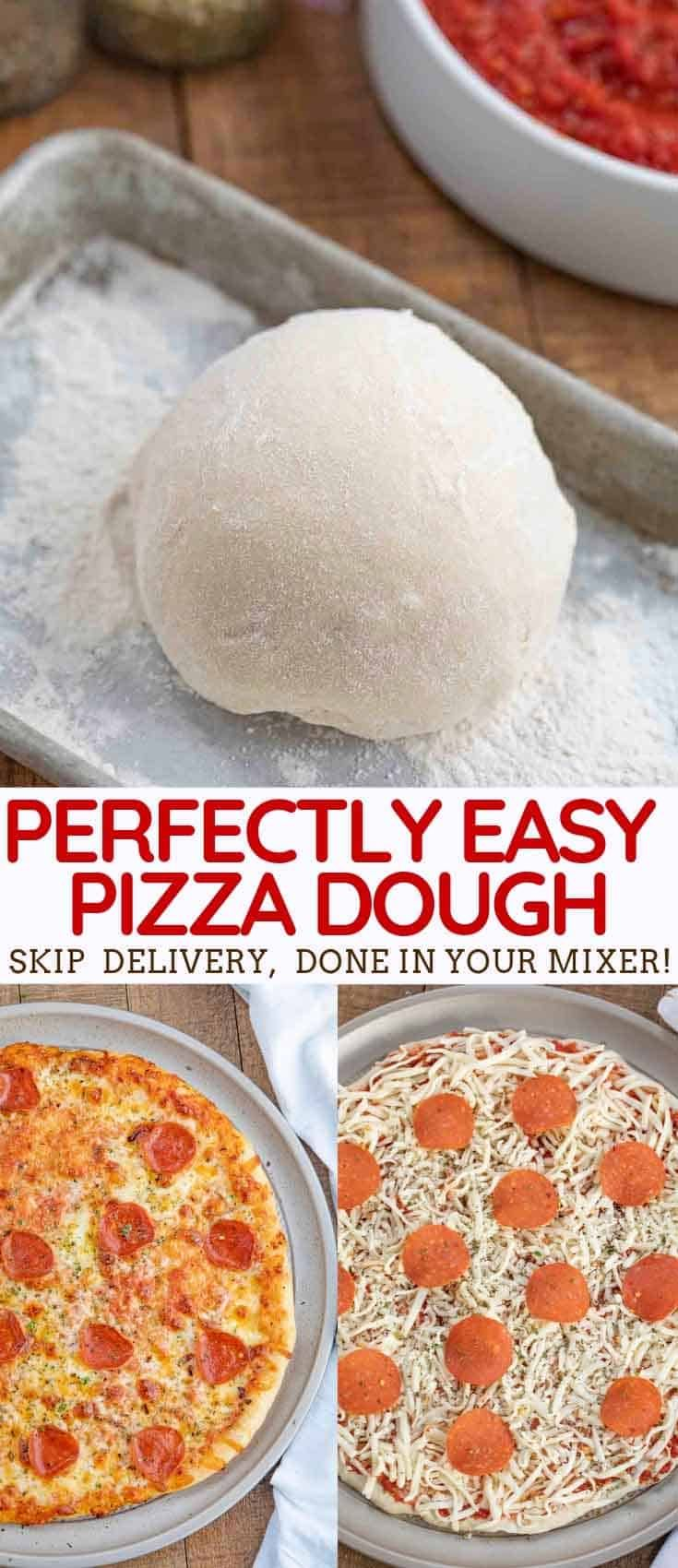 Easy Pizza Dough made with flour, yeast, sugar, oil, and seasoning takes your ho…
