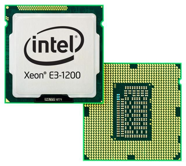 What is a CPU?: Intel Xeon E3-1200 CPU (Front and Back)