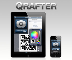 QR Code and 2D Code Generator  He does suggest using the app, Qrafter....which is my favorite QR Code app.