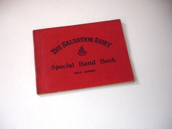 1920s The Salvation Army Special Band Book Solo Cornet Brass Band Journal Popular Marches and Selections by FillyGumbo