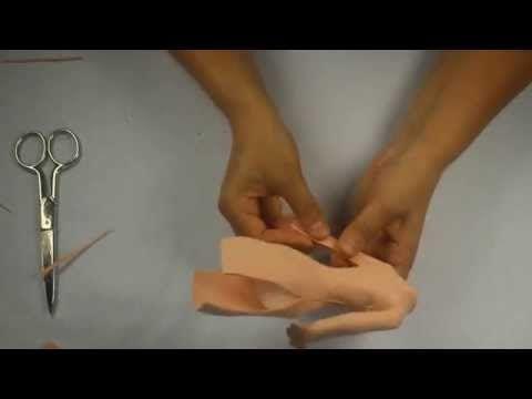 Como hacer cuerpo de fofuchas sin arrugas - YouTube