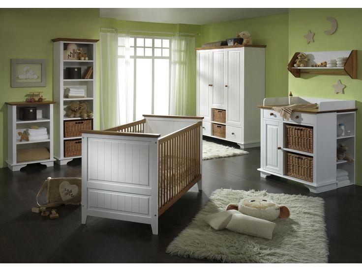 Babyzimmer Julia Massivholz weiß/braun von massivum.de