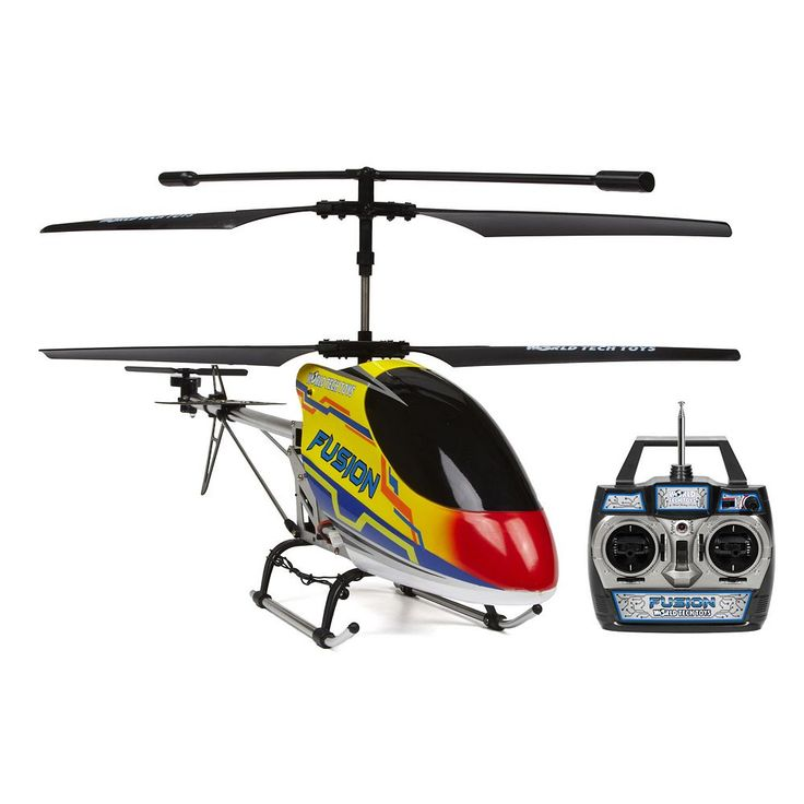 World Tech Toys Gyro Fusion 3.5ch RC Helicopter, Yellow