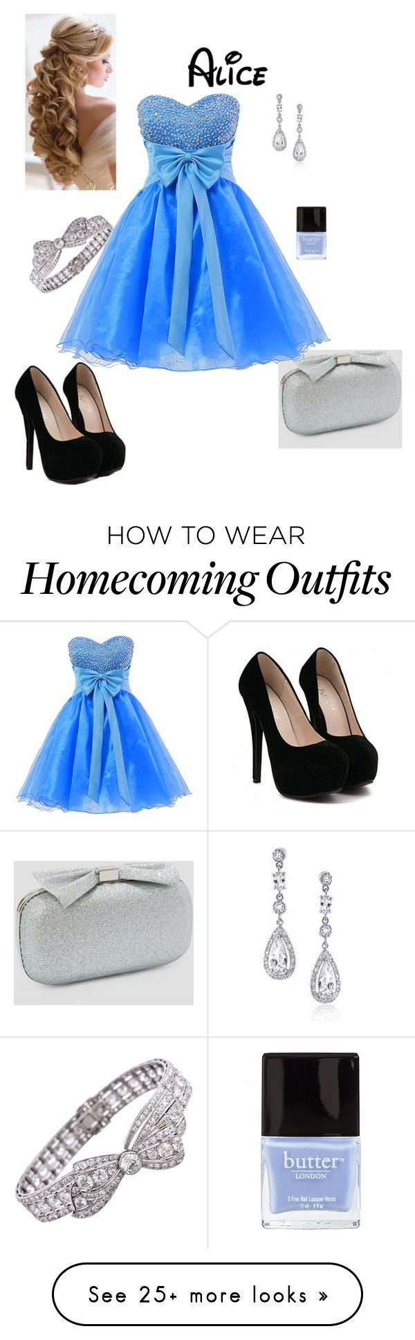"""""""Disney Prom - Alice"""" by briony-jae on Polyvore featuring Ashley Stewart, Bling Jewelry, Butter London, women's clothing, women's fashion, women, female, woman, misses and juniors"""