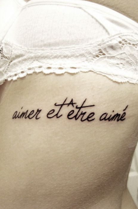 """""""aimer et être aimé"""", this means """"love and be loved"""""""