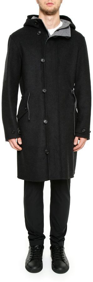 Z Zegna Wool Parka With Hood