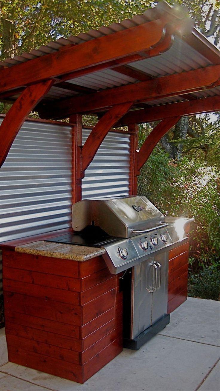 Außenküche 10+ wunderschöne DIY Outdoor-Küche Designs mit ...