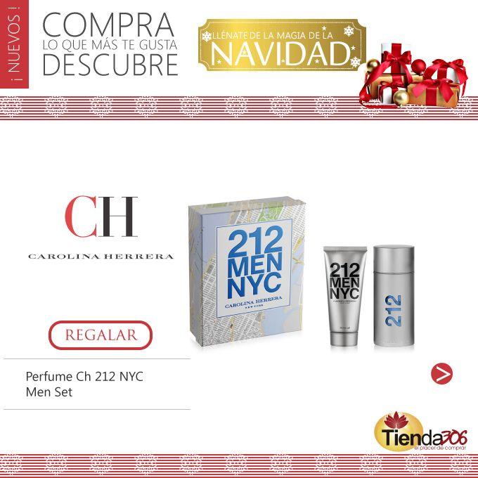 Perfume Ch 212 NYC Men Set 100ml + Gel de Baño 100ml  Perfume de Hombre Carolina Herrera. 212 Nyc. Un sello olfativo que reconocerá en la pista de baile y que deja una huella difícil de olvidar.   Ver más en: http://bit.ly/1Q7gzG8