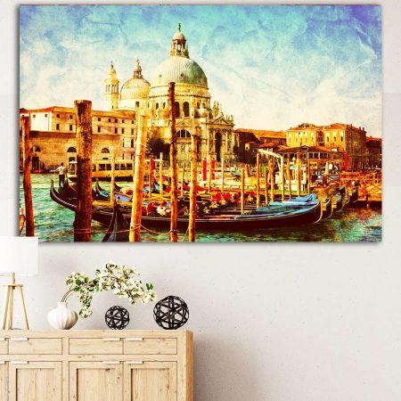 Vintage venice No2 πίνακας σε καμβά (Βενετία βιντάζ)