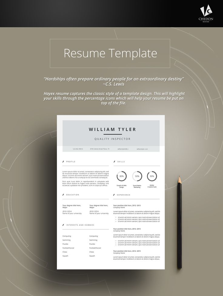 25 best @ JOBS Resume Templates images on Pinterest Resume - a template for a resume