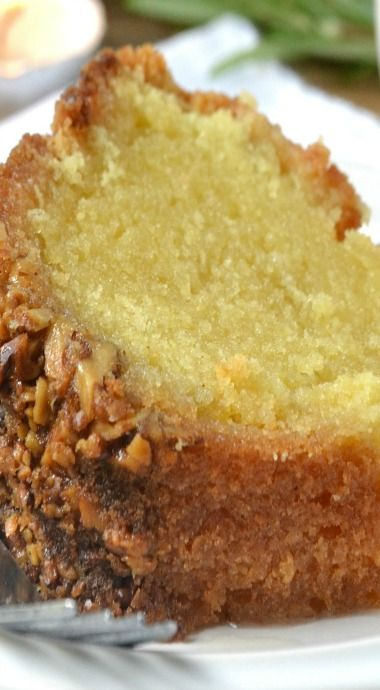 Rum Cake with Butter Rum Glaze ~ This is so good I have made these for years as Christmas gifts.