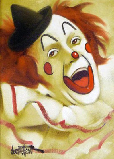 Joyful Happy Clown 1980 by Chuck Oberstein