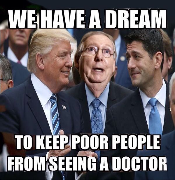 The poor will die but at least billionaires will have a tax cut.
