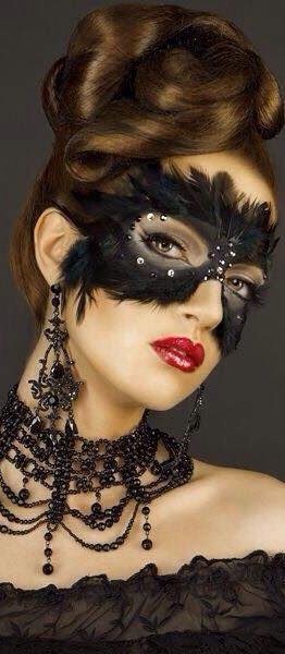 black mask.      For more great pins go to @KaseyBelleFox