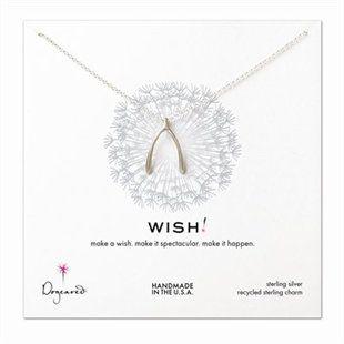"Dogeared® Wish Big Wishbone 18"" Necklace – Silver"