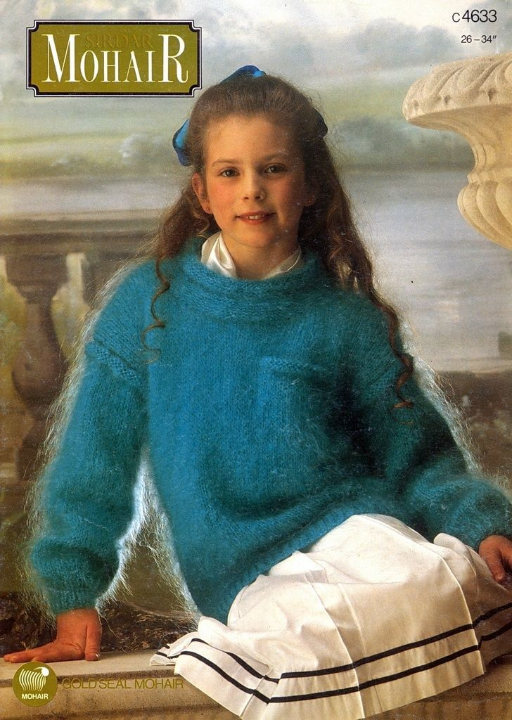 Girls Fuzzy Mohair Sweater Mohair Sweater Sweaters