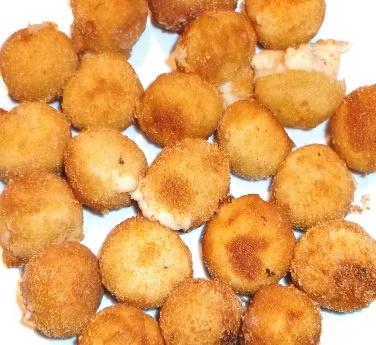 Croquetas redondas de jamón