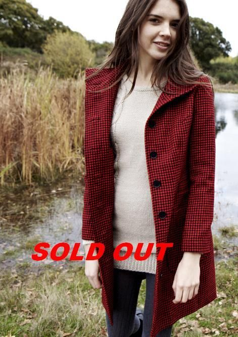 Izzy Lane - Image of Sycamore Coat - Red Houndstooth