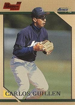 1996 Bowman Baseball Carlos Guillen Rookie Card by Bowman. $3.95. 1996 Bowman Baseball #353 Carlos Guillen Rookie Card.  Near Mint to Mint condition. Comes in a plastic top loader for its protection.
