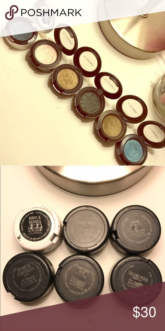 Mac eye shadows Used but lots left some more than others. MAC Cosmetics Makeup Eyeshadow