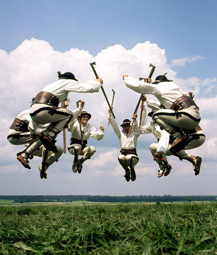 Silesia Ensemble dancing Zbójnicki, traditional dance from Polish mountains, which is inspired by the tales of zbójnicy - mountain rogues.
