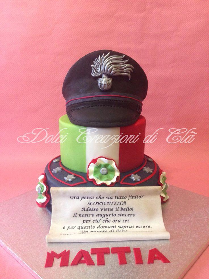 Torta cappello carabiniere