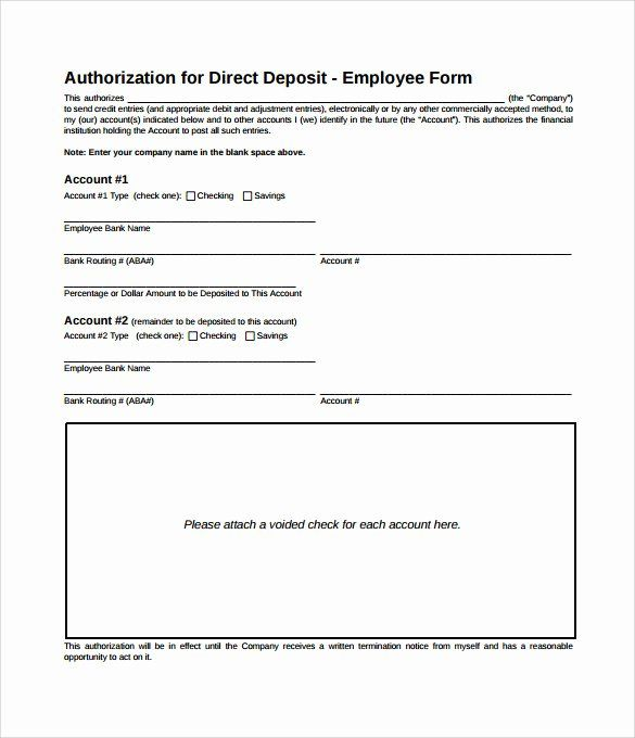 24 Direct Deposit Authorization Form Template In 2020 Lesson