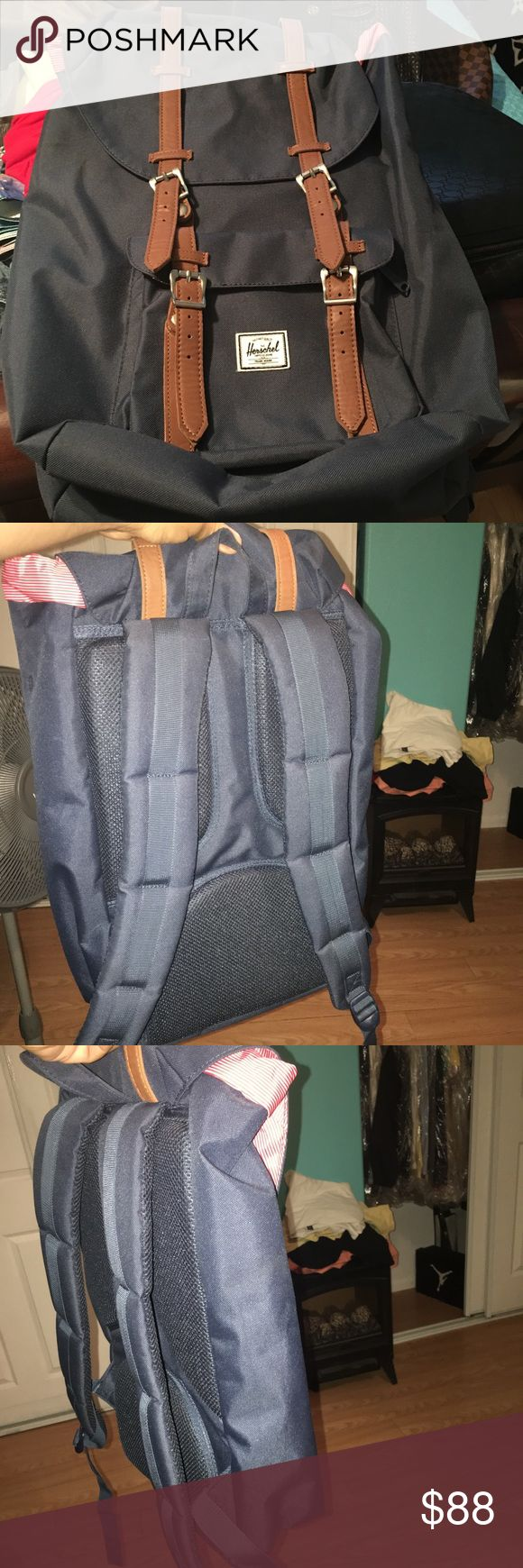 100% Authentic Hershel Backpack (unisex) UNISEX...  100% Authentic glamorous luxury stunning highend Backpack in new condition has no rips or cracks or torns no scratches only used 3 times..price is firm Herschel Bags Backpacks