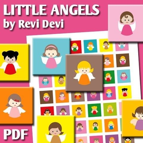 Little Angels 16044  1 inch squares  Digital by BlessedShop