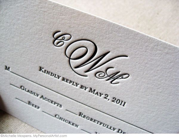 How to write a wedding response card. (click image to read article)