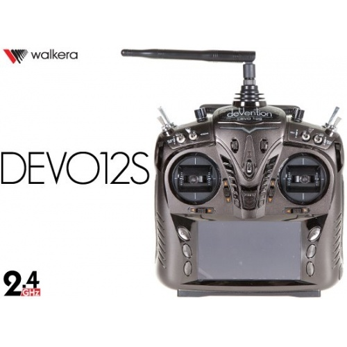 Walkera DEVO 12S 2.4Ghz 12 Channel RC With telemetry function Transmitter with Receiver RX1202
