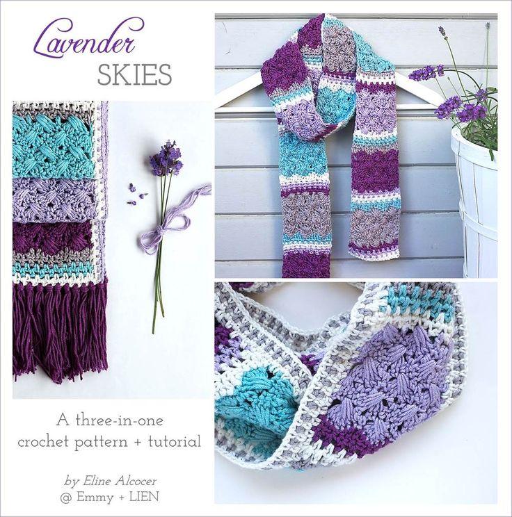 Fantástico Crochet Patrón De Bufanda Starbella Ornamento - Manta de ...