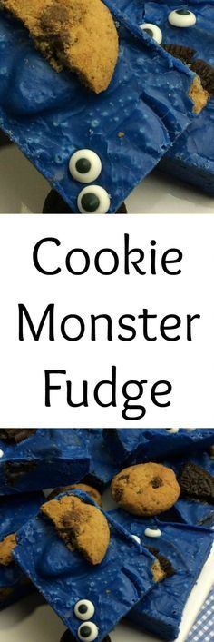 Want a Cookie Monster treat that will win anyone over? This Cookie Monster fudge is easy to make, tastes amazing and is the perfect Cookie Monster treat.