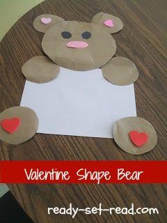 the valentine bears, valentines day activities for kids, valentine day activities for preschoolers, valentines day kids crafts, ready set read, ready-set-read.com