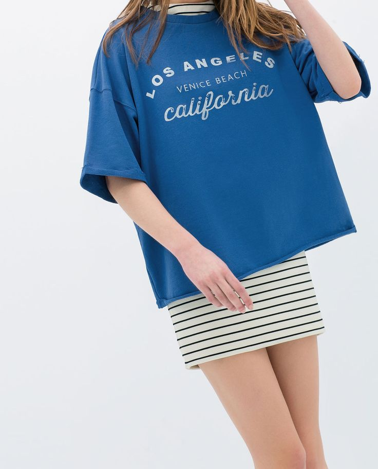 Image 4 of 3/4 PLUSH T-SHIRT from Zara