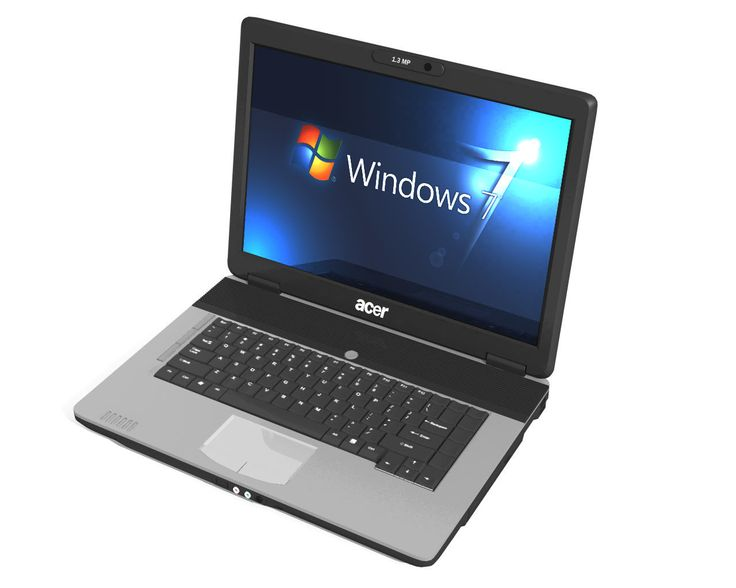 Acer Laptop 3D Obj - 3D Model